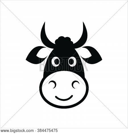 Abstract Simple Bull Head Vector Logo Concept Illustration, Buffalo Head Logo, Bull Head Logo.