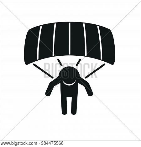 Parachuting Icon Isolated On White Background From Adventure Collection. Parachuting Icon Trendy And