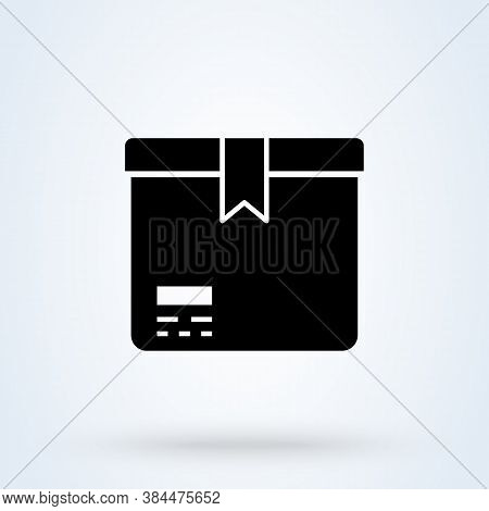 Box Or Package Icon Or Logo. Parcel Concept. Carton Package Box Vector Illustration.