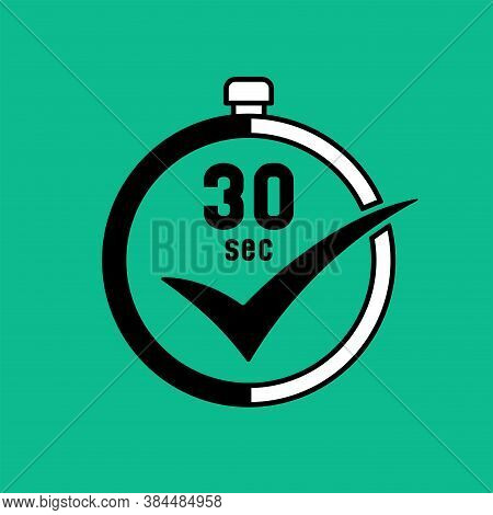 30 Second Time Countdown Agree Stop Watch Icon Sign