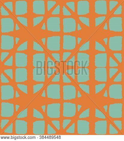 Japanese Tie Dye Seamless Pattern. Retro Shibori Seamless Pattern. Bohemian Geometric Asian Tie Dye