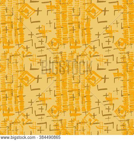 Tie Dye Japanese Geometric Artistic Seamless Pattern. Geo Wabi Sabi Decorative Kimono Print. Boho Ti