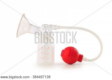Breast Pump Isolated On White With Clipping Path.