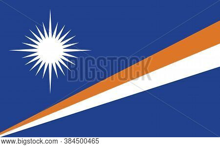 Marshall Islands Flag Vector Graphic. Rectangle Marshallese Flag Illustration. Marshall Islands Coun