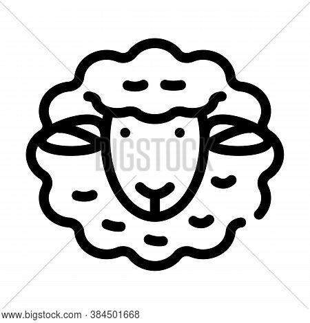 Dolly Sheep Clone Line Icon Vector Illustration