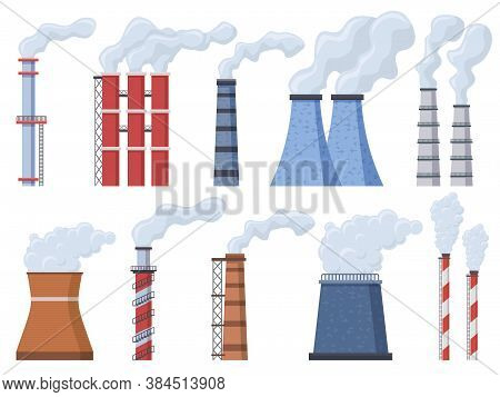 Industrial Chimney. Manufacturing Industrial Chimney, Toxic Air Chimney Pipes, Factory Chimney Smoke