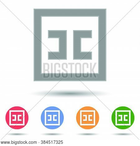 Cc Creative Commons Icon Vector Logo Isolated On Background