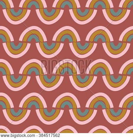 Rainbows Zig Zag Seamless Vector Pattern. Seamless Vector Pattern For Fabrics, Textiles, Stationery,