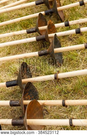 Imitation Of Medieval Pine Spears. For Equestrian Knightly Duels