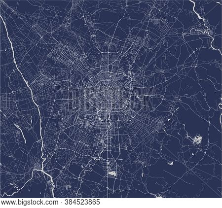Map Of The City Of Chengdu, China