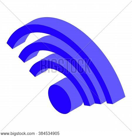 Podcast Wifi Icon. Isometric Of Podcast Wifi Vector Icon For Web Design Isolated On White Background