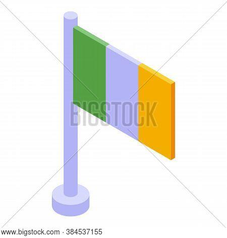Hurling Ireland Flag Icon. Isometric Of Hurling Ireland Flag Vector Icon For Web Design Isolated On