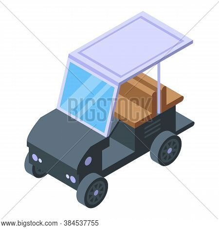 Golf Buggy Icon. Isometric Of Golf Buggy Vector Icon For Web Design Isolated On White Background