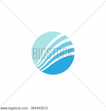 Circle Ring Logo - Geometric Abstract Line Art Earth Sphere Circular Spinning Spin Business Finance