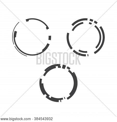 Tech Ring Logo Collection Set - Circular Vortex Sphere Rounded Technology Abstract From Future Sci F