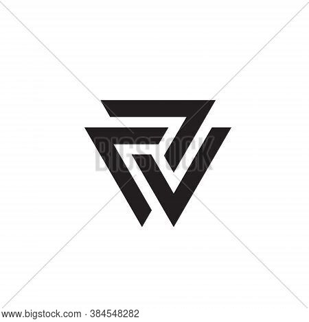 Triangle Logo Abstract Prism Geometric Shape Vector Graphic Technology Business Geometry Line Futuri