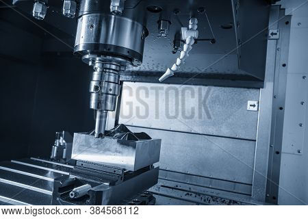 The Cnc Milling Machine Rough Cutting  The Injection Mold Parts By Indexable  Endmill Tools. The Mol
