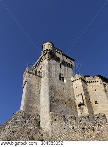 Medieval Castle Lichtenstein In Maria Enzersdorf In Lower Austria Near Vienna