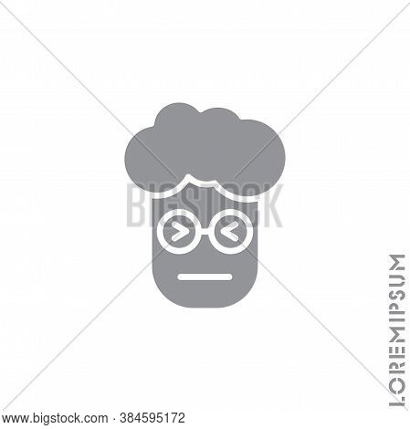 Angry Face Emoji Boy, Man Icon Vector. Sad Face Emoticon Symbol. Style Sign For Mobile Concept And W