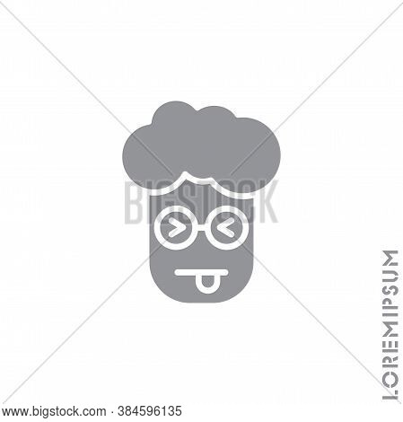 Squinting Face With Tongue Boy, Man Icon. Style Sign For Mobile Concept And Web Design. Teasing Shap