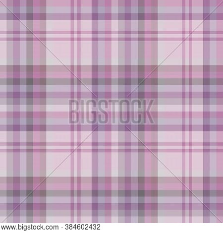 Seamless Pattern In Amazing Pink, Violet, Purple And Grey Colors For Plaid, Fabric, Textile, Clothes