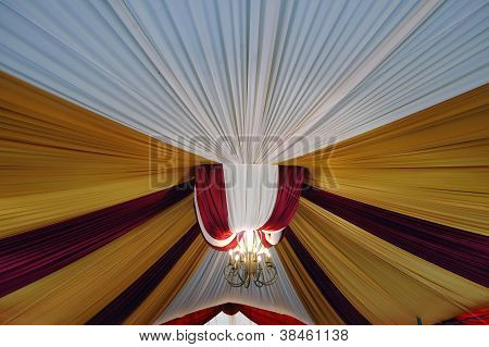 Fabric Decoration On Wedding Party