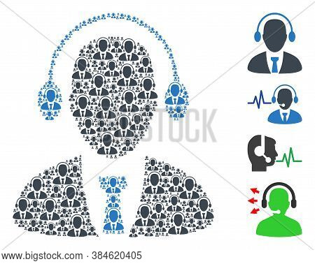 Vector Call Center Operator Composition Is Made Of Random Recursive Call Center Operator Parts. Recu
