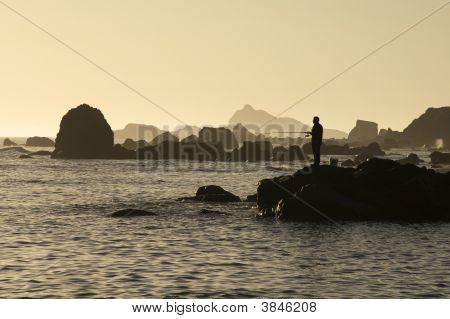 Sunset Sea Fishing