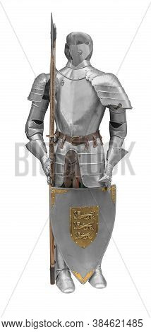 Picture Of A Knights Armor Isolated In White Back