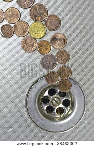 Coins Go To Drain