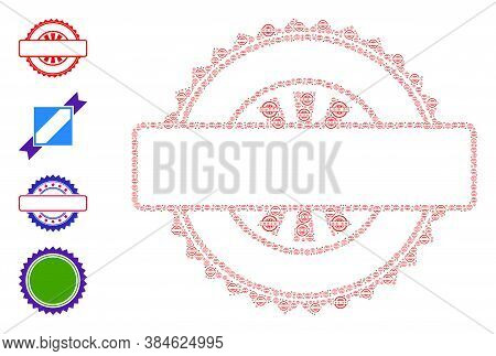 Vector Seal Stamp Template Composition Is Constructed Of Random Recursive Seal Stamp Template Pictog