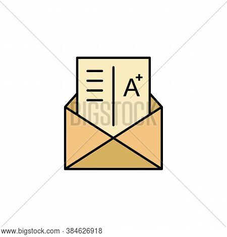 Grades, Exam, Letter, Mark Icon. Element Of Education Illustration. Signs And Symbols Can Be Used Fo