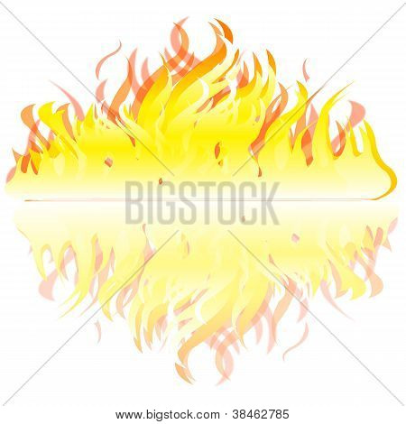 Flame On White Background