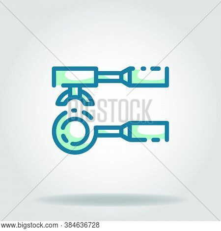 Logo Or Symbol Of Portafilter Icon With Twotone Blue Color Style