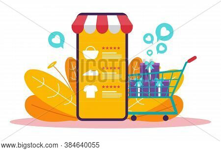 Digital Marketing Commerce Mobile Shopping Internet Web Analysis Illustration