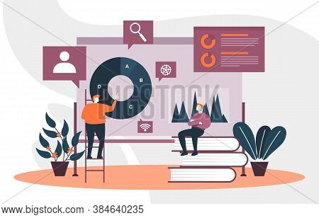 People Digital Marketing Commerce Mobile Internet Web Analysis Illustration