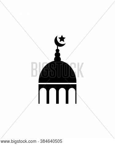 Mosque Icon,worship Place Of Muslim,vector Best Flat Icon.
