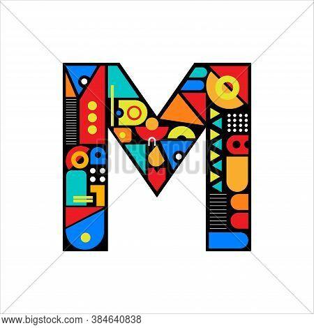 Creative Design Vector  M. Letter M Logo Icon Design Template Elements