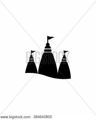 Temple Icon,hindu Worship Place,vector Best Flat Icon.