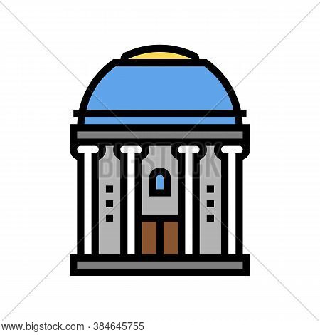 Chapel Building Color Icon Vector. Chapel Building Sign. Isolated Symbol Illustration