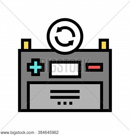 Battery Replacement Color Icon Vector. Battery Replacement Sign. Isolated Symbol Illustration
