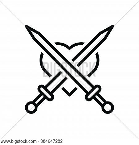 Black Line Icon For Attack Invasion Aggression Onslaught Sword Aggression Disarm Daunt Weapon Sharp