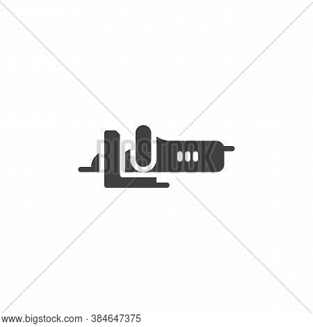 Electric Jig Saw Vector Icon. Filled Flat Sign For Mobile Concept And Web Design. Jig Saw Tool Glyph