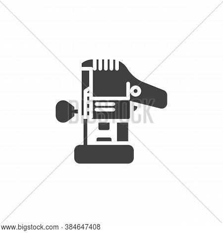 Wood Router Tool Vector Icon. Filled Flat Sign For Mobile Concept And Web Design. Electric Trimmer G