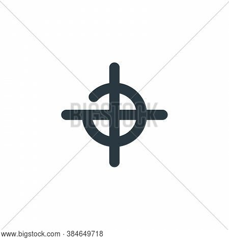 Target Aim Icon Sign, Focus Circle Illustration. Stock Vector Illustration Isolated On White Backgro