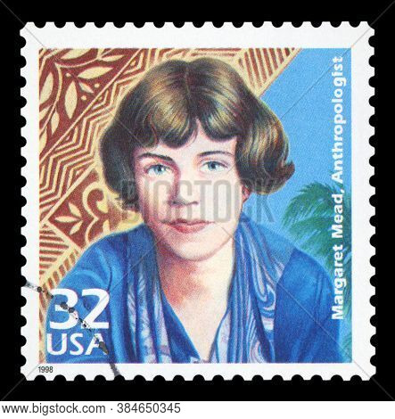 United States Of America, Circa 1998: A Postage Stamp Printed In Usa Showing An Image Of Anthropolog
