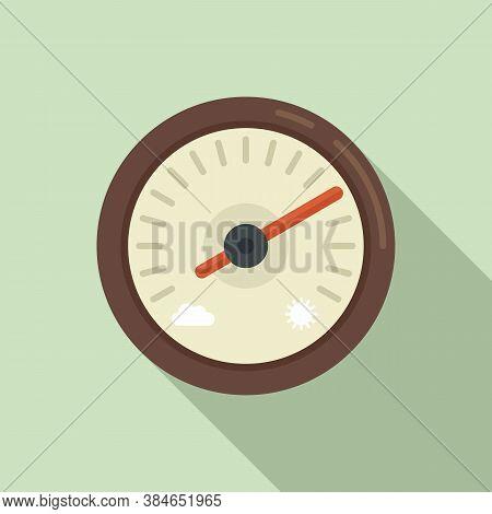 Atmosphere Barometer Icon. Flat Illustration Of Atmosphere Barometer Vector Icon For Web Design