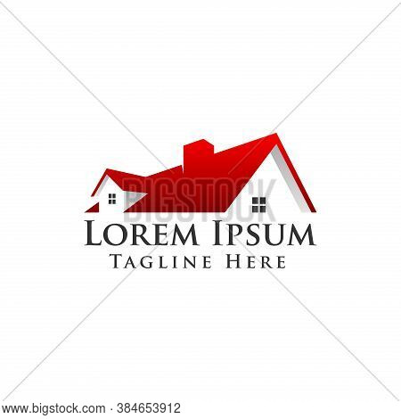 Real Estate Vector Logo. House Or Home Logo Template. Good For Real Estate Agent Or Realty Company.