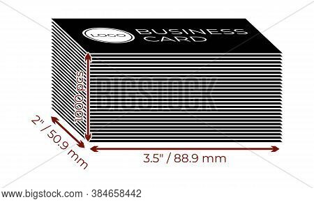 Simple Vector Icon Of A Stack Of 1000 Pcs Pocket Calendars 100x70 Mm With Logo. Illustration Of A Pi