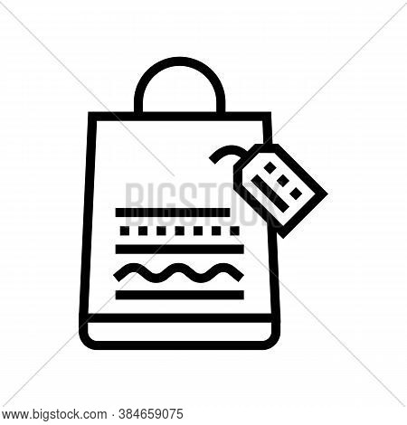 Homemade Bag Line Icon Vector. Homemade Bag Sign. Isolated Contour Symbol Black Illustration